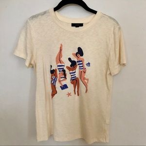 Virginie Morgand for J.Crew sunbathers t-shirt